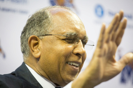 <strong>Tubby Smith is introduced as head coach of Memphis Tigers basketball on April 14, 2016.&nbsp;</strong>(Daily Memphian file)