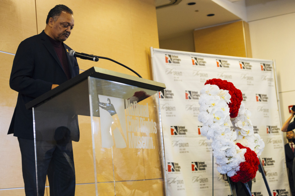 <strong>Rev. Jesse Jackson speaks at the National Civil Rights Museum's April 4, 2019, observance of Dr. Martin Luther King Jr.'s assassination 51 years ago. </strong>(Ziggy Mack/Special to The Daily Memphian)