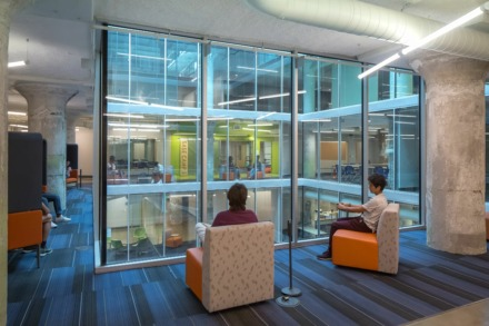 <strong>Crosstown High School, an interior project within Crosstown Concourse designed by ANF Architects, also received an Honor Award of Excellence. </strong>Ryan Rhea