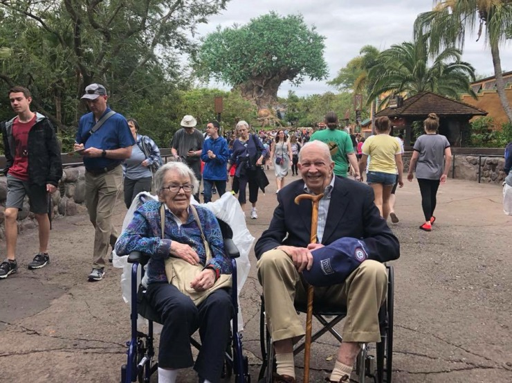 <strong>The Tree of Life served - appropriately - as the backdrop for the last photo from Virginia and Evan Calkins' Florida adventure at Disney's Animal Kingdom. </strong>(Geoff Calkins/Daily Memphian)