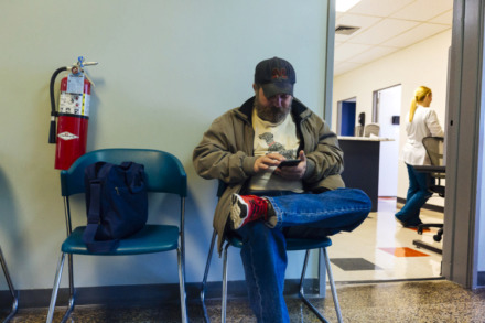 <strong>David Jones waits to receive care at the Baptist Operation Outreach clinic.</strong> (Ziggy Mack/High Ground News)