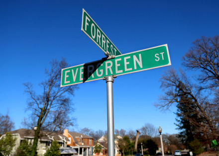 <strong>The Office of Planning and Development&nbsp;has recommended changing &ldquo;Forrest&rdquo; Avenue back to &ldquo;Forest&rdquo; following its research that includes images of subdivision plats spanning the length of the street.</strong> (Houston Cofield/Daily Memphian)