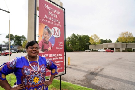 <strong>Lakenna Booker is the founder and head of Memphis Merit Academy at 4775 American Way in Parkway Village.</strong> <strong>The area's first charter school will open on Aug. 5.</strong> (Tom Bailey/Daily Memphian)