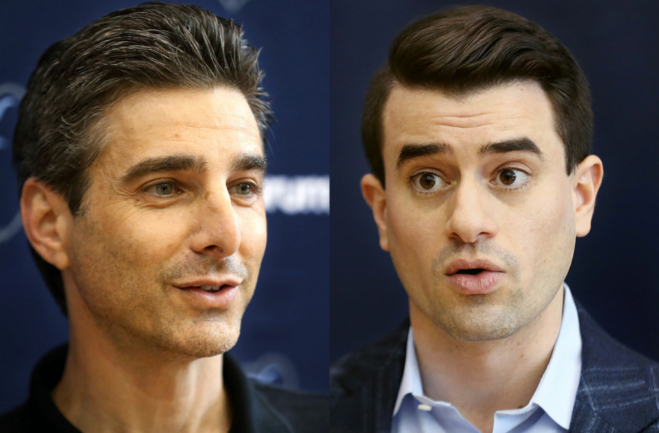 <strong>Memphis Grizzlies team President Jason Wexler and Vice-President of Basketball Operations Zach Kleiman began their first full day in their new positions on April 12, 2019.</strong> (Patrick Lantrip/The Daily Memphian)