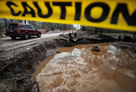 <strong>Residents along Forest Hill-Irene north of Tenn. 385 have complained about inadequate drainage around road construction causing flooding along the corridor. The city's capital improvements wish list includes funding for drainage improvements. as well as&nbsp;road projects.</strong>&nbsp;(Jim Weber/Daily Memphian)