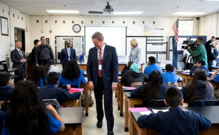 "<div class=""featured-image article-img""> <div class=""wp-caption-text""><strong>Gov. Bill Lee visits with students at a Nashville charter school on April 1 with U.S. Secretary of Education Betsy DeVos.</strong> (Photo courtesty of TN.gov)</div> </div>"