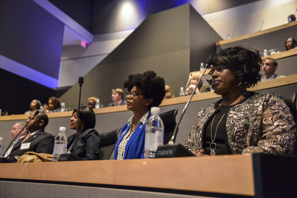 <strong>Around 180 executives from companies across the Memphis area gathered at the inaugural Partner ForUM Thursday to learn about the mutual benefits of partnering with the University of Memphis.</strong> (Photo courtesy of Brandon Dill)