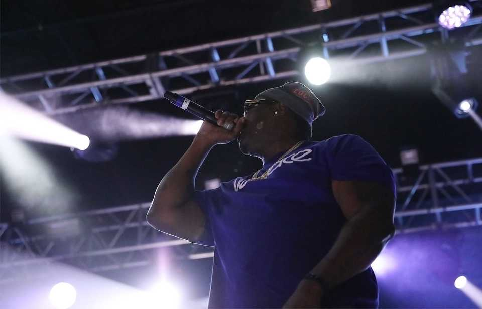 Memphis' own Project Pat performs at Mempho Music Fest on Saturday. (Patrick Lantrip/Daily Memphian)