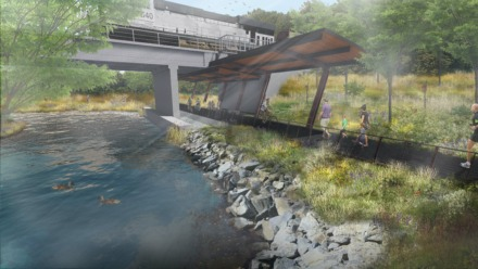 <strong>Dalhoff Thomas Design Studio received an Honor Award for its design of Big Creek Resilience flood-control project. </strong>(Rendering courtesy of Dalhoff Thomas Design Studio)