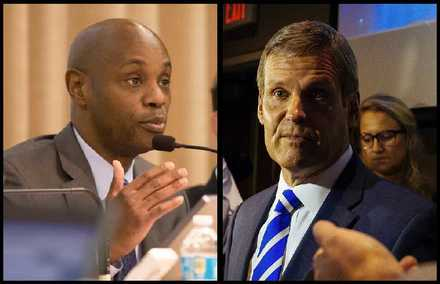 <strong>Shelby County Schools Superintendent Dorsey Hopson (left) has endorsed Republican Bill Lee's campaign for governor.</strong> (Daily Memphian file photos)