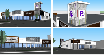 <span><strong>Renderings of the new look that Poplar Plaza is trying on one of its buildings.</strong> (Courtesy of UrbanARCH Associates)</span>
