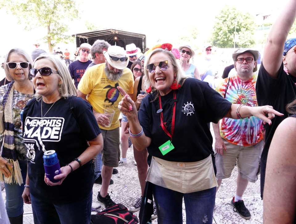 <strong>Fans young and old danced to the sounds of Keith Sykes and the Revolving Band at the Beale Street Music Festival.</strong> (Karen Pulfer Focht/Special to the Daily Memphian)