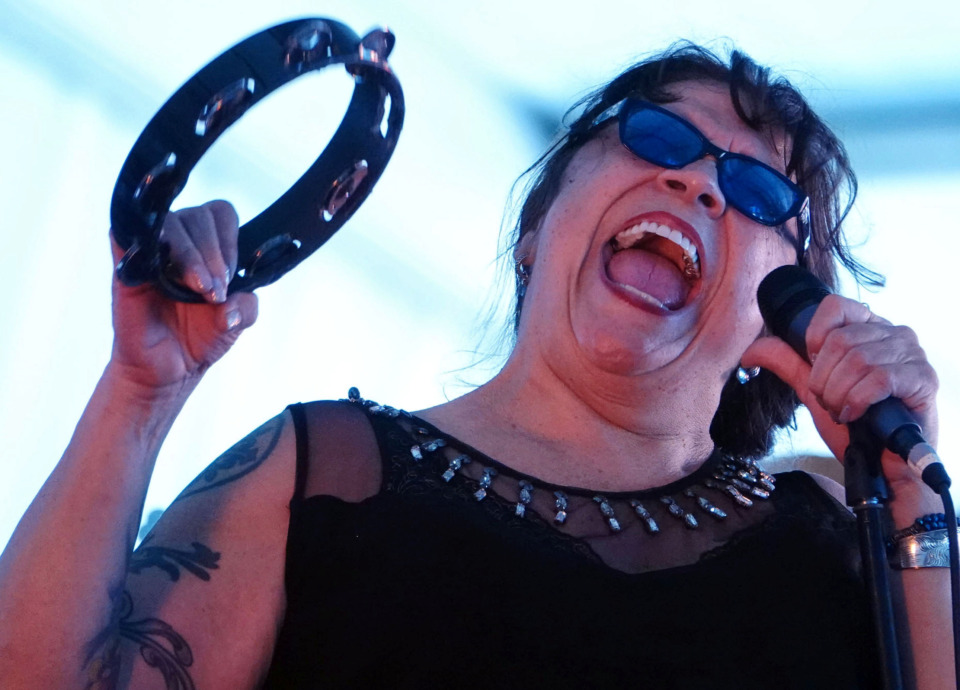 <strong>Barbara Blue belts out some blues in the Blues Tent at the Beale Street Music Festival on Sunday.</strong> (Karen Pulfer Focht/Special to the Daily Memphian)