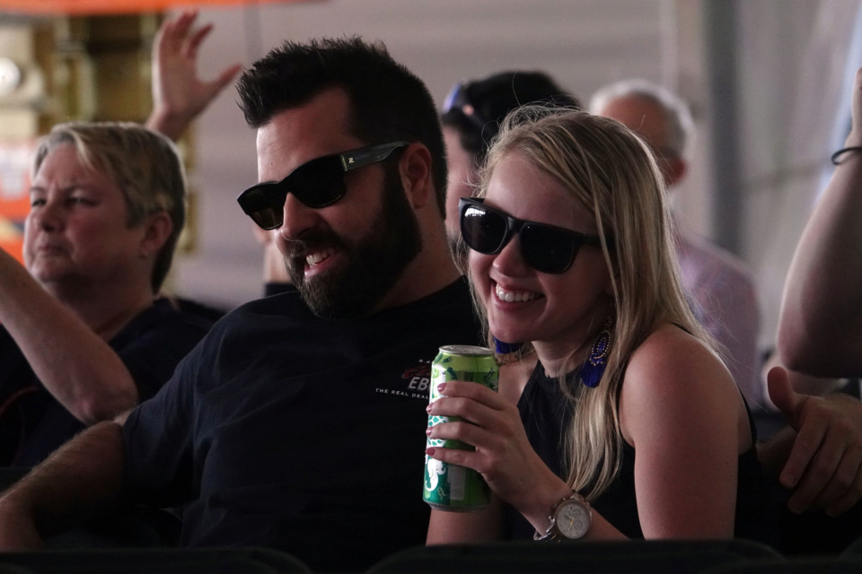 <strong>Blues fans hear authentic Memphis blues in the Blues Tent at the Beale Street Music Festival on Sunday.</strong> (Karen Pulfer Focht/Special to the Daily Memphian)