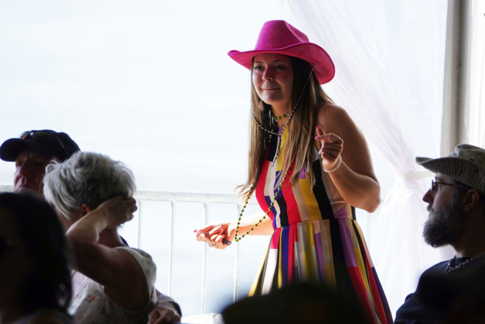 <strong>A blues fan dances to the music in the Blues Tent at the Beale Street Music Festival on Sunday in Memphis.</strong> (Karen Pulfer Focht/Special to the Daily Memphian)