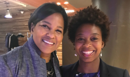 <span><strong>Roquita Coleman-Williams (right) and Rosalind Brewer, COO of Starbucks and Amazon board of directors member.</strong> (Photo courtesy of Roquita Coleman-Williams)</span>